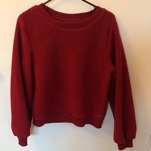 Abercrombie and Fitch Sherpa puffed sleeve sweater